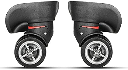 Rishil World 2Pcs Black Luggage Suitcase Universal wheels Replacement with Screws