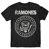 LaMAGLIERIA Camiseta Hombre Ramones - Grunge Print T-Shirt Punk Rock Band 100%...