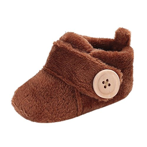 zapatos bebe invierno, Amlaiworld Botines bebé recién nacidos Niña Niño botas Zapatos calientes 3- 18 Mes (Tamaño:3-6Mes, Café)