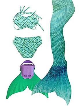 Coda da Sirena Bambina Costumi da Bagno delle Ragazze costume Sirena con monopinna