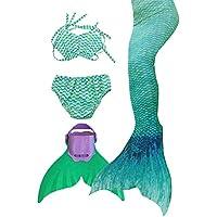 3STEAM Mädchen Bikini Badeanzüge Meerjungfrauenschwanz Zum Schwimmen mit Meerjungfrau Flosse Schwimmen Kostüm Schwanzflosse