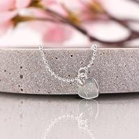 Personalisiertes Silberarmband Herz , Namensarmband, Armband mit Gravur, personalisiertes Armband, Armband mit Namensgravur, 925er Silber