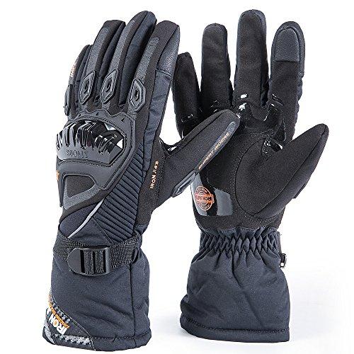 IRON JIA'S Guantes de motos Invierno cálido impermeable guantes de protección a prueba de viento Guantes Luvas modelos de actualización (puede pantalla táctil)