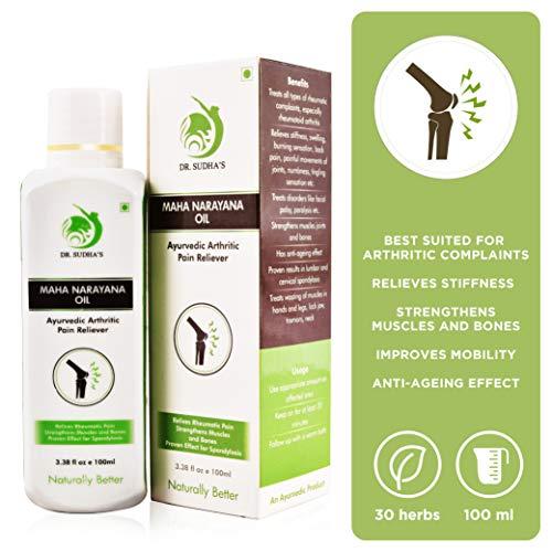 Dr. Sudha's Maha Narayana Oil: Ayurvedic Arthritic Pain Reliever (100ml)