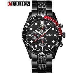 CURREN New Men's Calendar Quartz Casual Fashion White Dial Wrist Watch 8028G