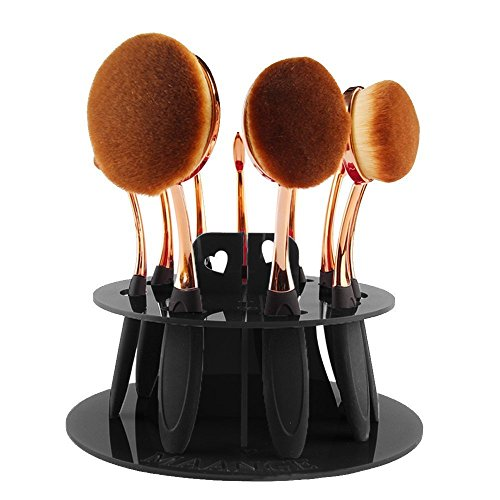 cdcr-professional-oval-makeup-brush-set-10-brushes-toothbrush-design-brushes-with-10-hole-oval-makeu