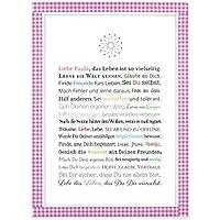 Personalisierbares Geschenk zur Firmung, Erstkommunion, Jugendweihe, Kommunion u. Konfirmation   Bilder für Mädchen   als Gastgeschenk, kreative Verpackung für Geldgeschenk oder Glückwunschkarte