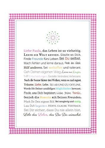 Personalisierbares Geschenk zur Firmung, Erstkommunion, Jugendweihe, Kommunion u. Konfirmation | Bilder für Mädchen | als Gastgeschenk, kreative Verpackung für Geldgeschenk oder Glückwunschkarte