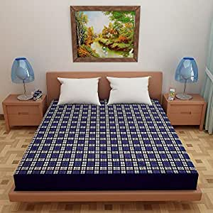 """Dream Care Waterproof Dustproof Terry Cotton Mattress Protector for Single Bed - 72""""x48"""", Printed Design03"""