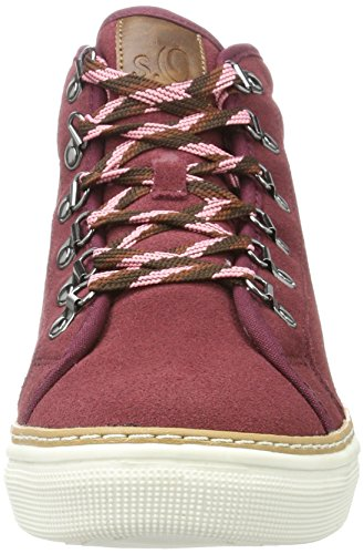 s.Oliver Damen 26207 Hohe Sneaker Rot (Grape)