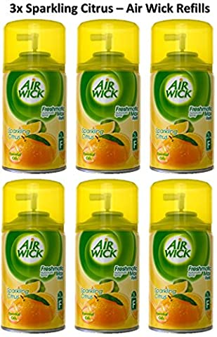Air Wick Freshmatic Refill - Sparkling Citrus 250ml x 6