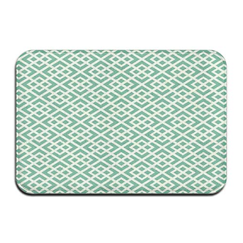 Square Pedestal Sink (ITSHHMB Water Absorbent Bath Mat Non-Slip Rubber Back Microfiber, Shabby Fashion Abstract Squares Vintage Pattern Checkered Striped Crosswise,for Living Room Rugs Bedroom)