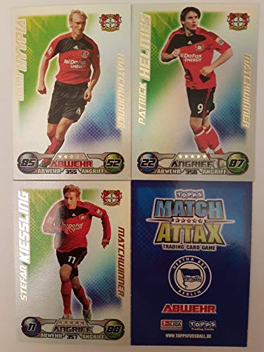 Match Attax Topps 2009 2010 - Trading Cards alle 3 Matchwinner - Leverkusen: Hyppiä, Helmes, Kiessling (Topps-fußball-2010)