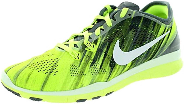 Nike Women'S Free 5.0 TR Fit 5 PRT Cool Grey/White/Volt/White Training Shoe 9.5 Women US, Cool Grey/White/Volt...
