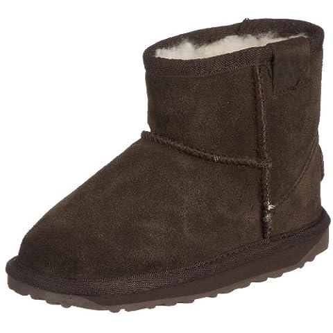 EMU Australia Wallaby Mini, Boots mixte enfant - Marron /Chocolate- 35 EU (2 UK)