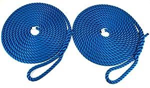yates 10 metros: RopeServices UK 2 x 12 Metros DE 10 mm Royal Azul Softline Cuerdas de Amarre. Wa...