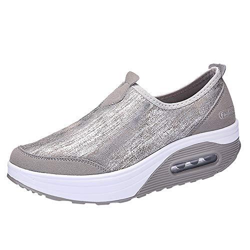 Ginli Donna Sneaker Scarpe Dimagranti Scarpe da Ginnastica Casual Tennis Piattaforma Running Scarpe Zeppe Donna Sneakers Fitness Sportive Outdoor Scarpe Passeggio con Air Scarpe da Lavoro