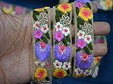 Verzierungen 2,5 cm Großhandel bestickte Blumenapplikation