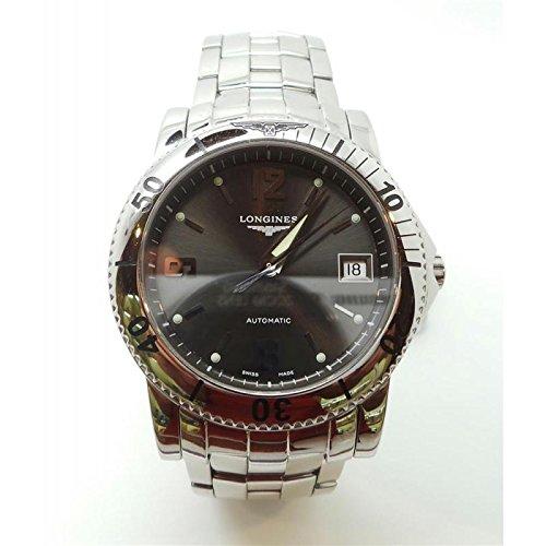 Reloj Longines Hombre l3.620.4.76.6automático acero quandrante gris correa acero