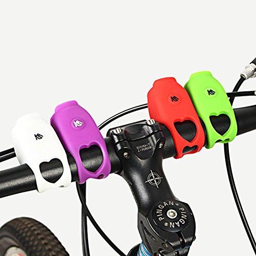 120db Elektronische Fahrradhupe,Elektrische Fahrradklingel Fahrrad Elektrisches Horn Glocke Fahrradglocken Laut Klingel Wasserdicht Unsichtbar Fahrradhorn Zubehör für Mountainbike