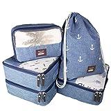 Seeherz Packing-Cubes | leichtes 5-teiliges Kleidertaschen Set für Deine nächste Reise |...