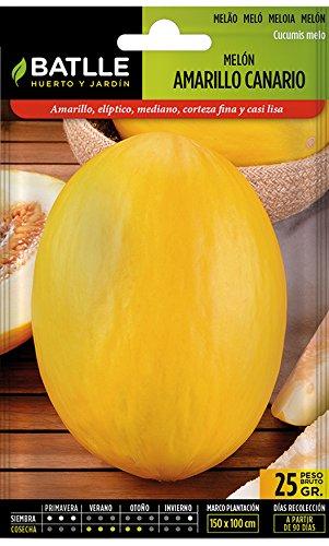 Semillas Batlle 013905G25 Melón Amarillo Canario