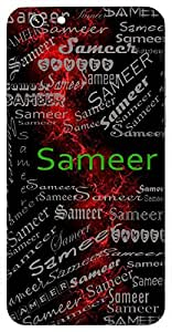 Sameer (Early Morning Fragrance; Entertaining Companion; Wind) Name & Sign Printed All over customize & Personalized!! Protective back cover for your Smart Phone : Sony Xperia T-2 Ultra