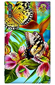 iessential butterfly Designer Printed Back Case Cover for Sony Xperia XZs