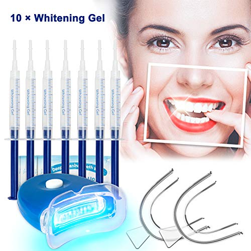 Teeth Whitening Kit Bleaching Gel - Zahnaufhellung - für Weisse Zähne Bleaching Zähne Zu Hause Professionelle Zahnaufhellung Set Zahnweiß-Bleichsystem,10x Teeth Whitening 2x Dental Trays Gel - Bleaching-kits