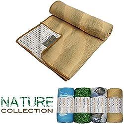 Yogabum Naturaleza Coleccion Antideslizante Yoga Mat Toallas (Arena)