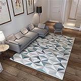 Ommda Tapis Salon Design Moderne Tapis Salon Asiatique Anti Derapant Impression géométrique 3D Multicolore 120x160cm 7mm