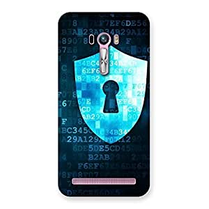 Stylish Digital Secure Print Blue Back Case Cover for Zenfone Selfie