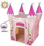 Home Source Tienda de campaña para niños con protección contra Rayos UV, diseñada como un Castillo de Princesa:Kiddus - Tienda de campaña para niñas, diseño de Juguete