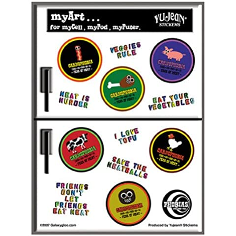 Heidi Barack - Vegetarian Anti Meat Mini decalcomania Sticker - 4