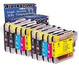 10x Druckerpatronen kompatibel für Brother LC-980 xl LC980 xl Brother DCP-145C DCP-163C DCP-165C DCP-167C DCP-185C DCP-195C DCP-365CN DCP-373CW DCP-375CW DCP-377CW DCP-383C DCP-385C DCP-387C DCP-395CN DCP-585CW DCP-6690CW MFC-250C MFC-255CW MFC-290C MFC-295CN MFC-297C MFC-490CW MFC-5490CN MFC-5890CN MFC-6490CW MFC-6690CW MFC-6890CDW MFC-790CW MFC-795CW MFC-990CW Tinte Drucker Patrone mit Chip Füllstandsazeige
