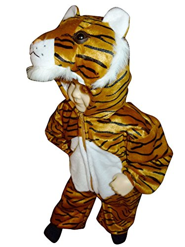 Tiger-Kostüm, F14 Gr.92-98, für Klein-Kinder, Babies, Tiger-Kostüme für Fasching Karneval, Kleinkinder-Karnevalskostüme, Kinder-Faschingskostüme, Geburtstags-Geschenk Weihnachts-Geschenk (Kleiner Löwe Baby Kostüm)