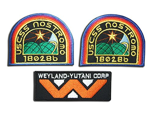 Kostüm Nostromo Alien - Alien Film Weyland Nostromo USCM Crew Kostüm Iron On Patches [3 Patch Set] AL01