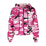 Search : Zhiyuanan Women Fashion Zip Windbreaker Long Sleeves Multi-Pocket Drawsting Hooded Jacket Camouflage Digital Printing Outwear