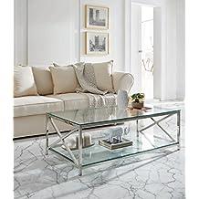 Dugarhome–Couchtische Moderne Tischleuchte–Edelstahl/Glas (120x 60)