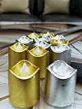 #7: Gifts Online Pack Of 12 Golden And Silver Led Tealights For Diwali Decoration - Size 4X4X4 cm.