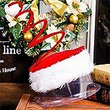 STZHIJIA Weihnachten Hat Fünf Sterne Leuchte Kappe Plüsch Stickerei Blume Hut Stirnband Hut Für Weihnachten Jahr Hut B