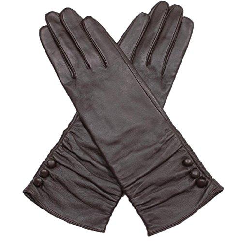 LQABW Winter Frauen Handschuhe Langen Schaffell Warme Elegante Stilvolle Abendessen (Kostüme Erwachsene Kleid Flapper Elegante)