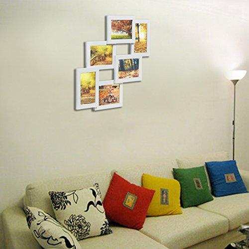 Songmics cornice multifoto da parete con 6 posti di foto e - Cornici da parete per foto ...