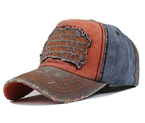 Men\'s Distressed Vintage Baseball Cap Snapback Trucker Hat, Outdoor Sports Baseball Hat, Hiking Hat, Running Hat by Sun Hat