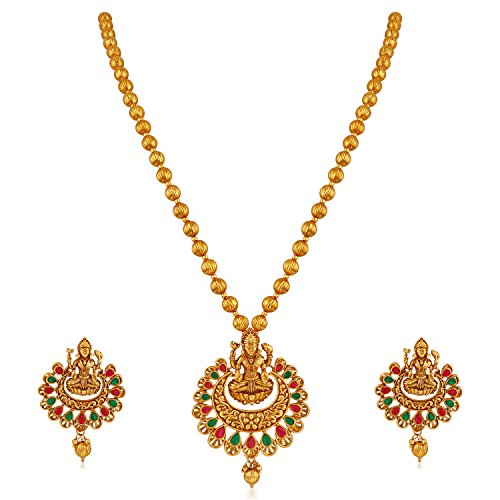 Apara Traditional South Indian Laxmi Jewellery Set for Women