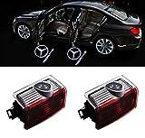 XYSTAR 2 Stück Autotür Logo Einstiegsbeleuchtung Projektion Licht Türbeleuchtung Projektor Welcome Licht (Für Benz E-AMG)