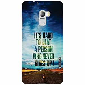 Lenovo K4 Note Back Cover - Silicon Never Give Up Designer Cases