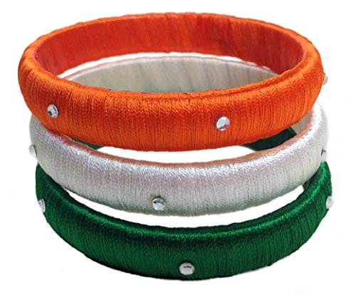 SABIS Silk Thread Bangle - Tri Colour Bangle