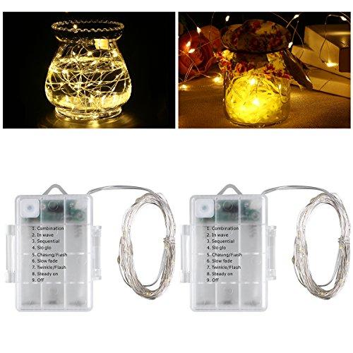 Lampen Streichinstrumente LED, ledmomo 16.4ft avec50LED Fernbedienung Dekorative Beleuchtung Dekorative Beleuchtung für Weihnachten Party der Party Dekoration Hochzeit Inneneinrichtung