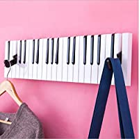 WESEASON Wall mounted floating coat racks piano music notes coat hooks for Home Office Hallway Waiting Room Living Room Bedroom retractable